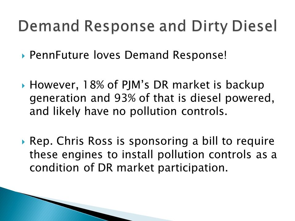  PennFuture loves Demand Response.