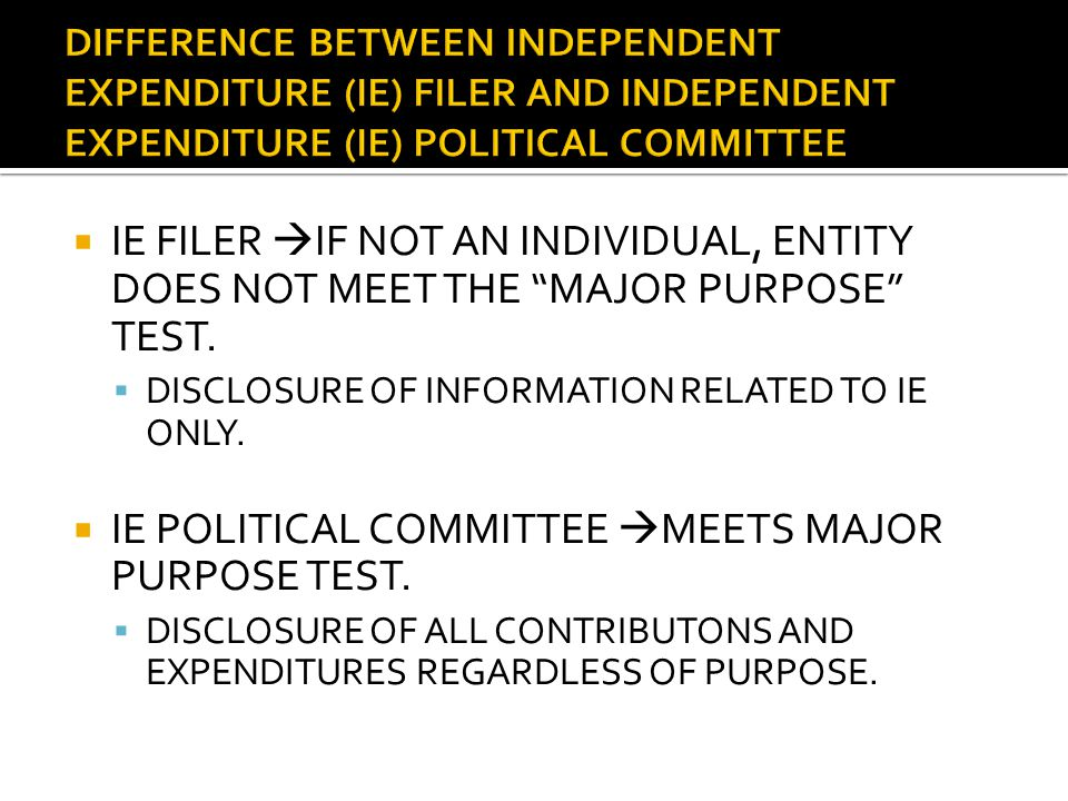  PRIOR TO CITIZENS UNITED  ONLY INDIVIDUALS AND THOSE ENTITIES THAT ARE ELIGIBLE TO CONTRIBUTE TO POLITICAL COMMITTEES.