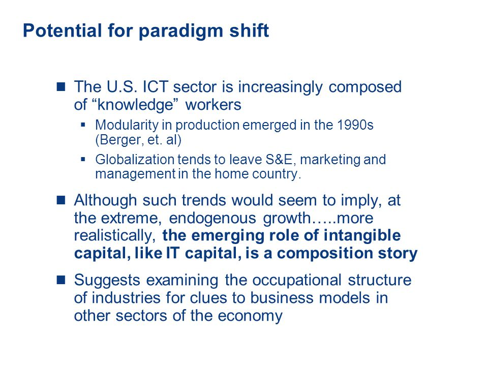 12 www.conference-board.org Potential for paradigm shift The U.S.