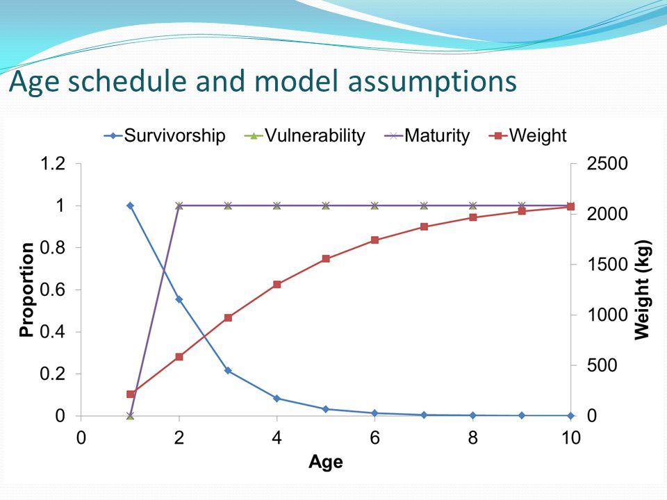 Age schedule and model assumptions
