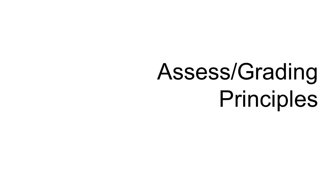 Assess/Grading Principles