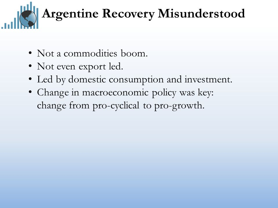 Argentine Recovery Misunderstood Not a commodities boom.