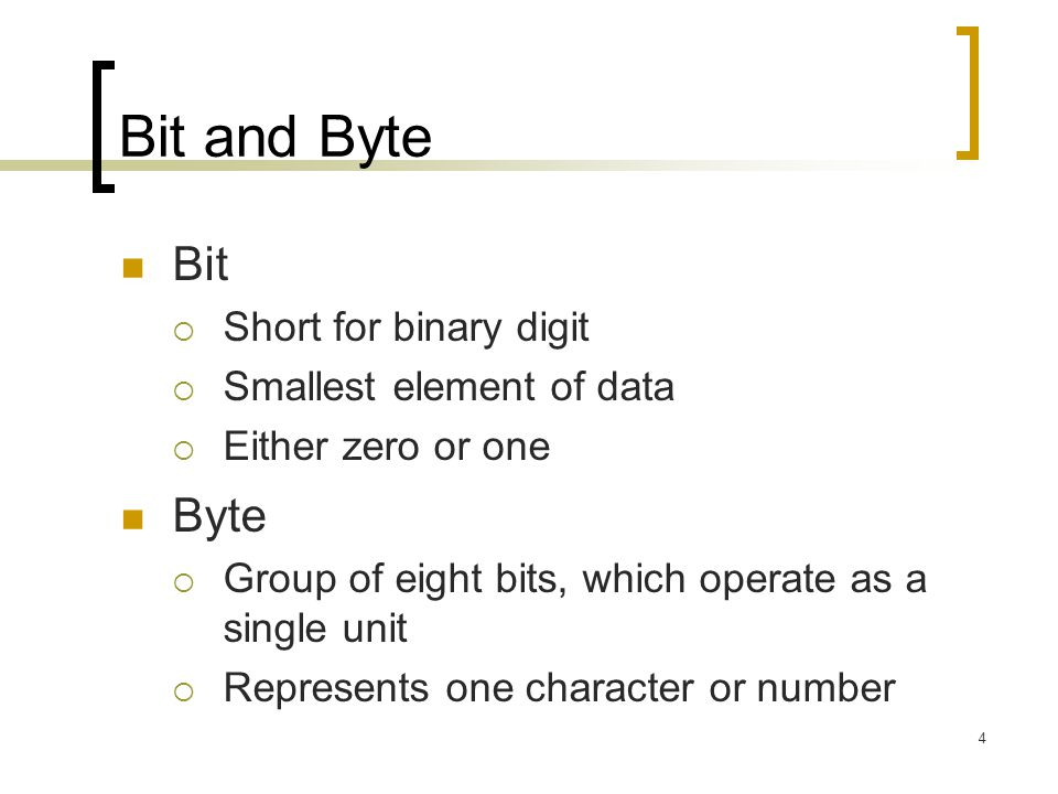5 Representing Characters in Bytes