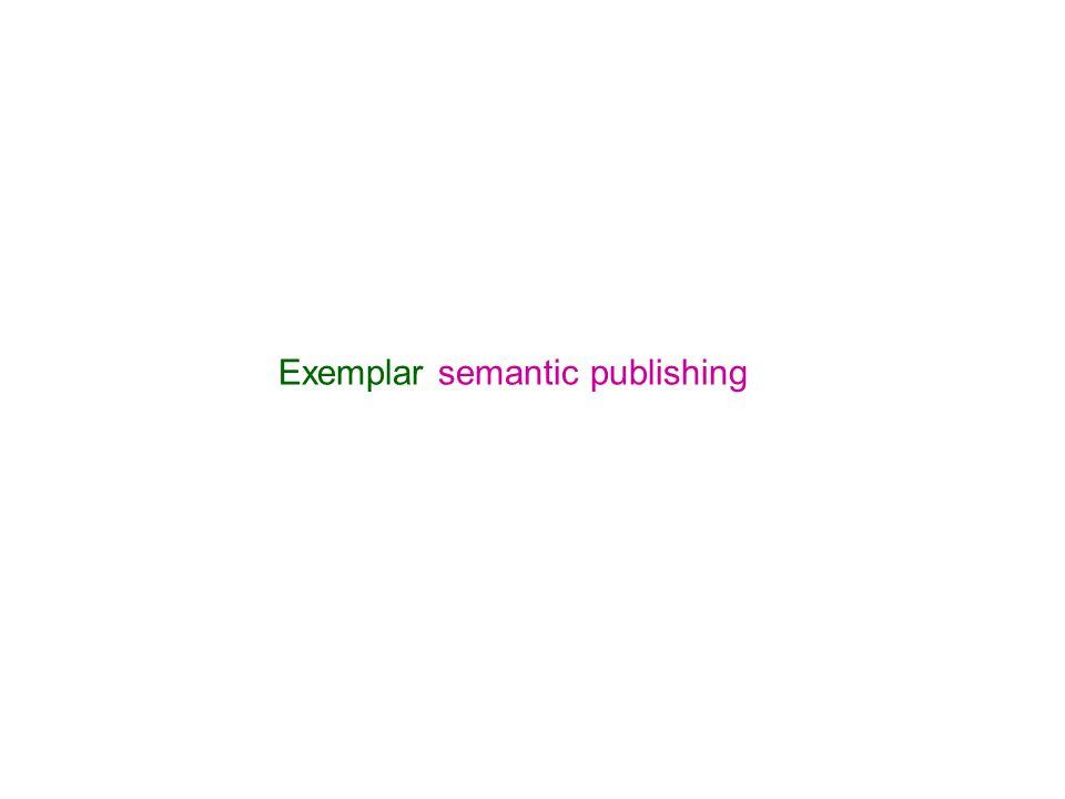 Exemplar semantic publishing