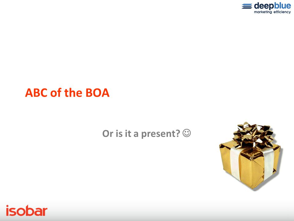 ABC of the BOA Ready to burst. 