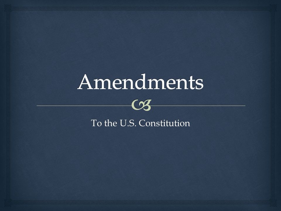  The Bill of Rights Amendments 1 through 10