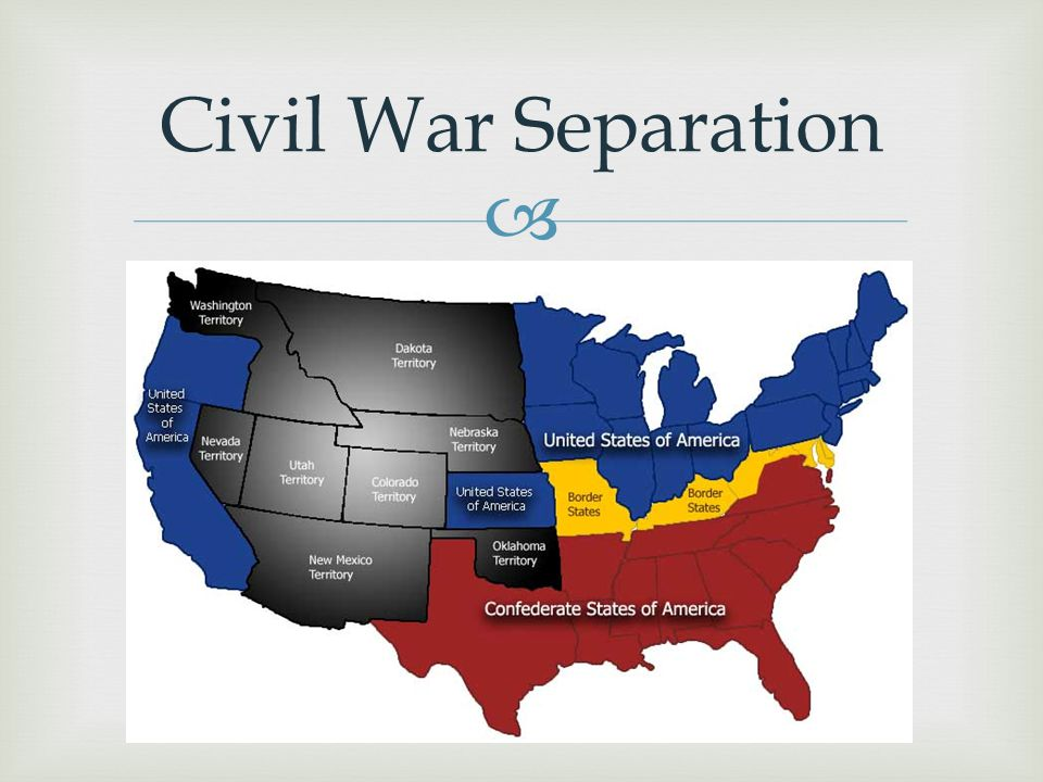  Civil War Separation