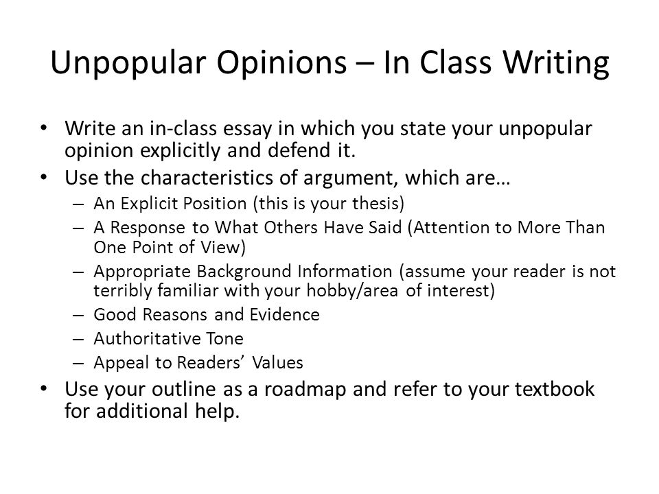 in class essay tips