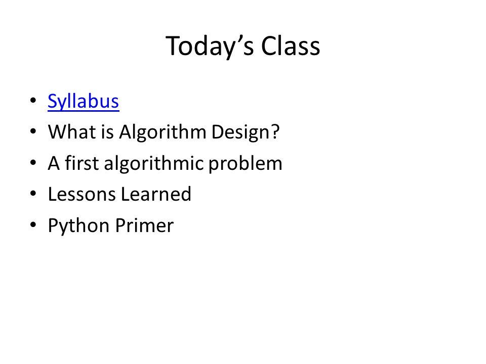 What is Algorithm Design.