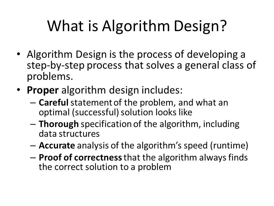 Algorithm Design vs.
