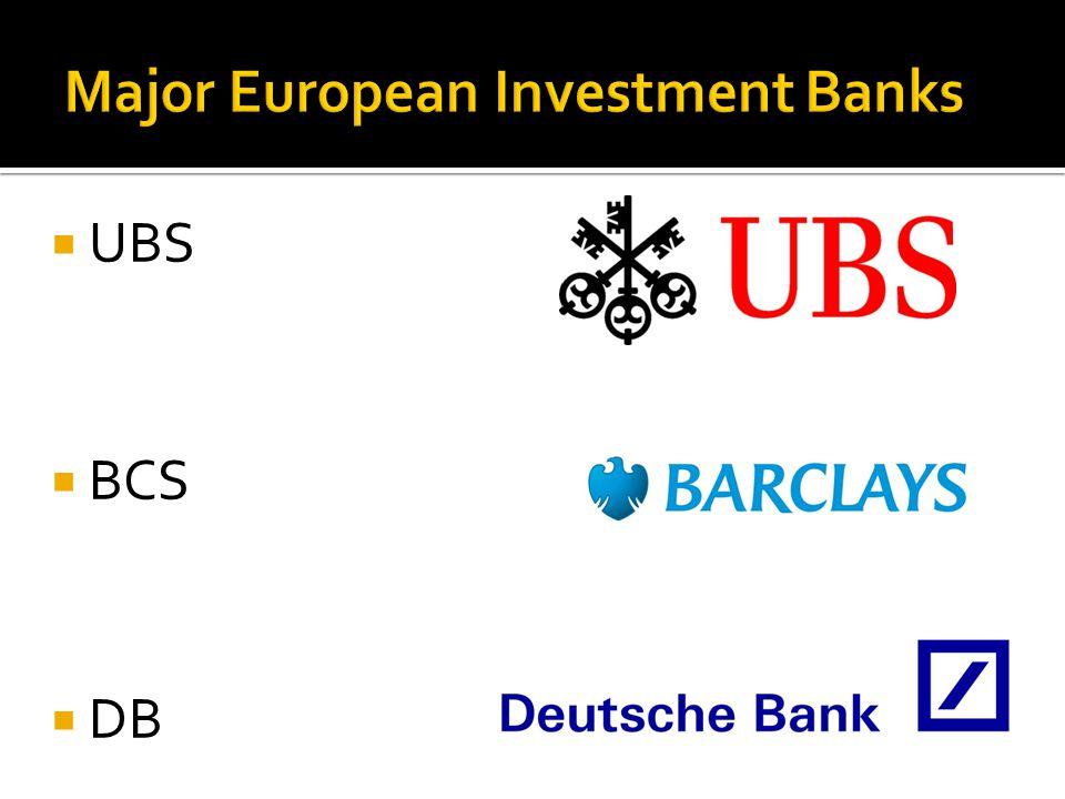  UBS  BCS  DB