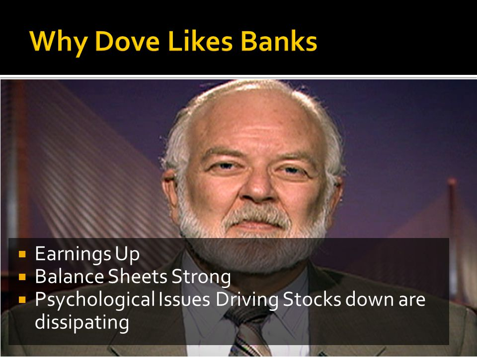  Earnings Up  Balance Sheets Strong  Psychological Issues Driving Stocks down are dissipating
