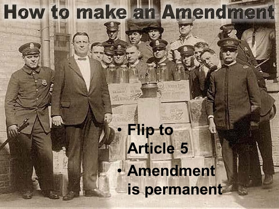 Flip to Article 5 Amendment is permanent