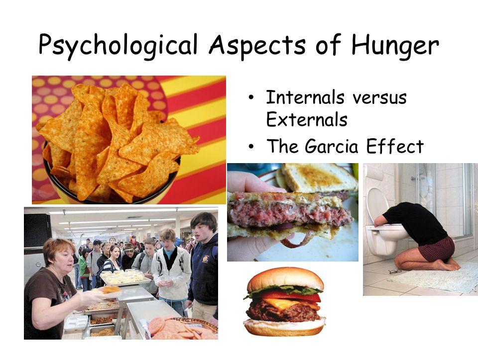 Psychological Aspects of Hunger Internals versus Externals The Garcia Effect