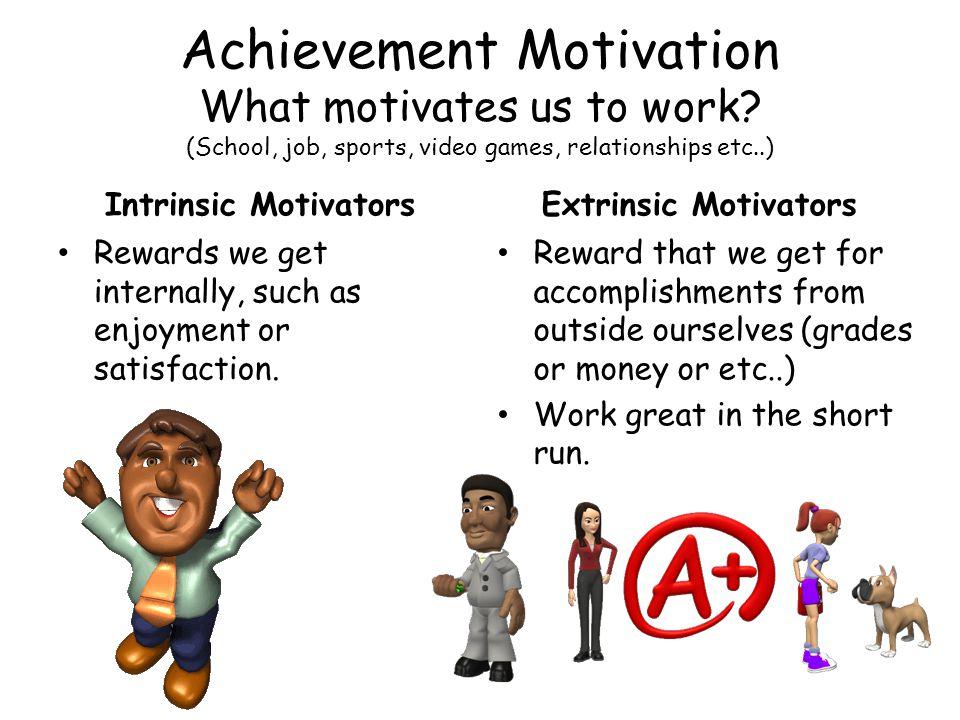 Achievement Motivation What motivates us to work.