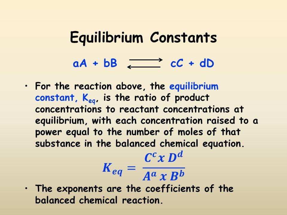 Equilibrium Constants