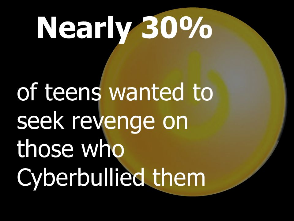 Teens currently use their own methods to counter cyberbullying, and many teens respond with a variety of reactions: Thirty-six percent asked the bully to stop Thirty-four percent blocked communication Thirty-four percent talked to friends about the bullying Twenty-nine percent did nothing about the bullying Twenty-eight percent signed offline Nearly 30% of teens wanted to seek revenge on those who Cyberbullied them