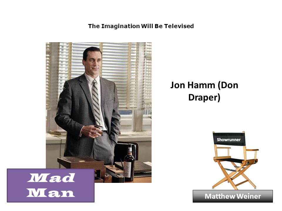 The Imagination Will Be Televised Jon Hamm (Don Draper) Matthew Weiner Mad Man