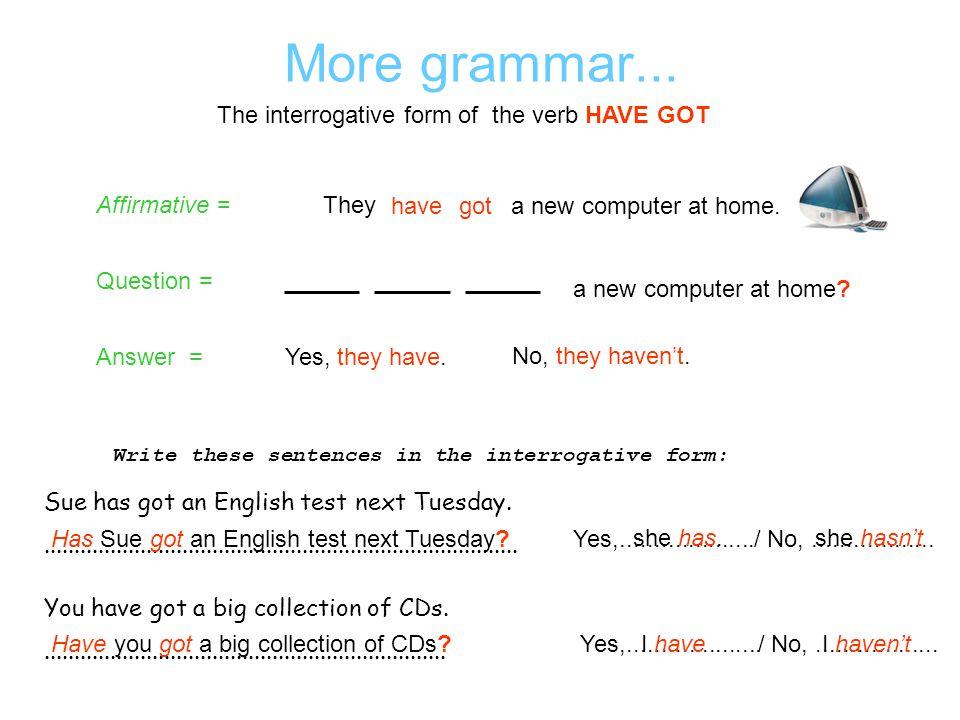New vocabulary How do you say.....................