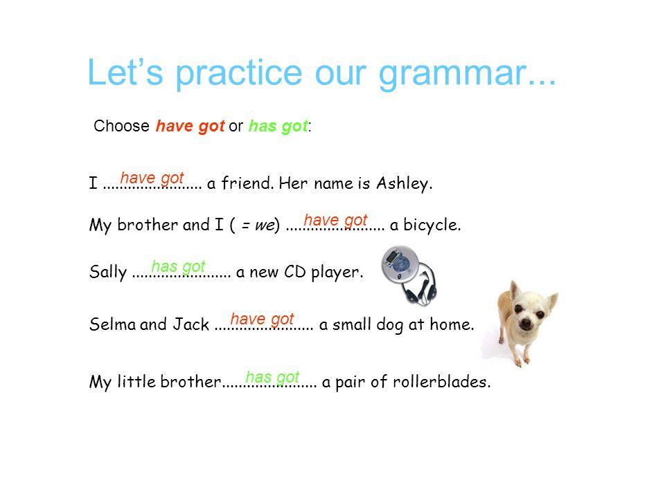 Let's talk about grammar...