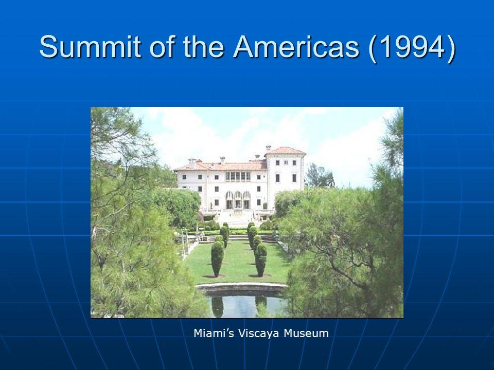 Summit of the Americas (1994) Miami's Viscaya Museum