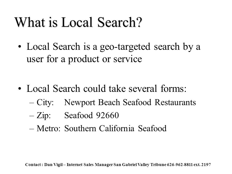 What is Local Search.