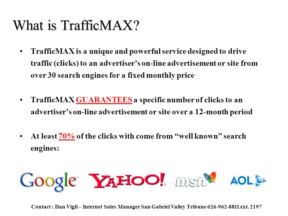What is TrafficMAX.