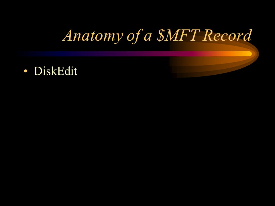 Anatomy of a $MFT Record DiskEdit