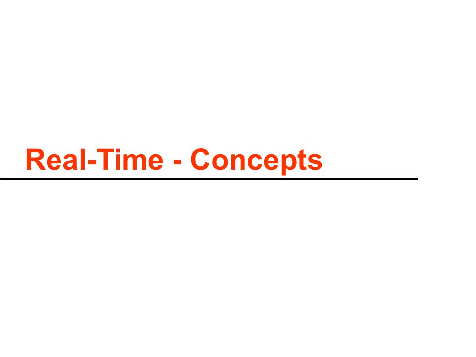 Real-Time - Concepts