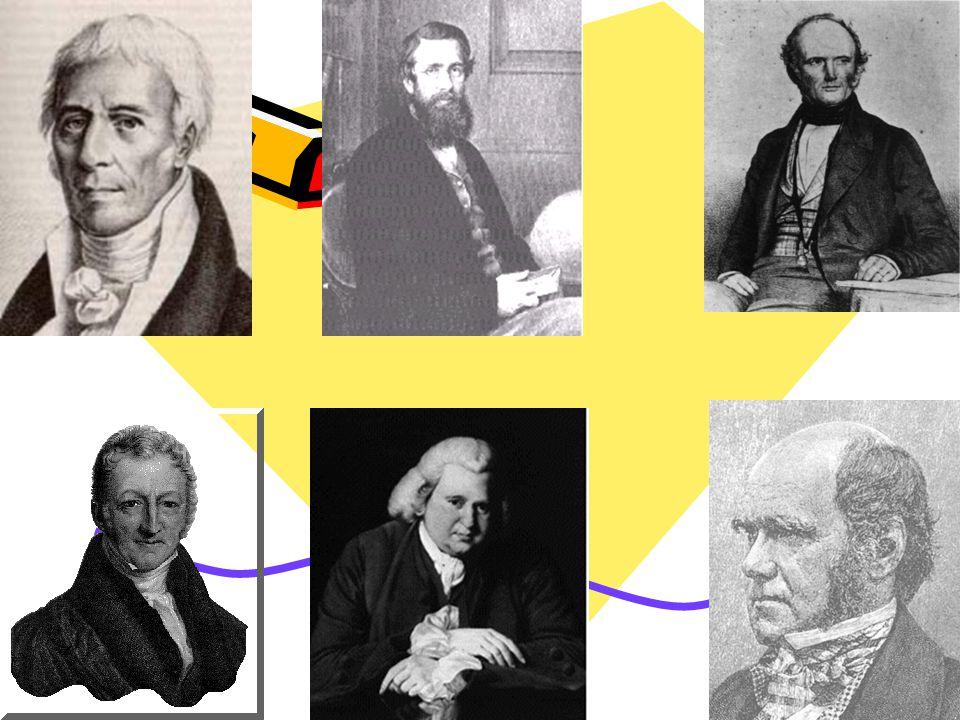 Contributors Lamarck Wallace Lyell Malthus Erasmus Darwin Charles Darwin