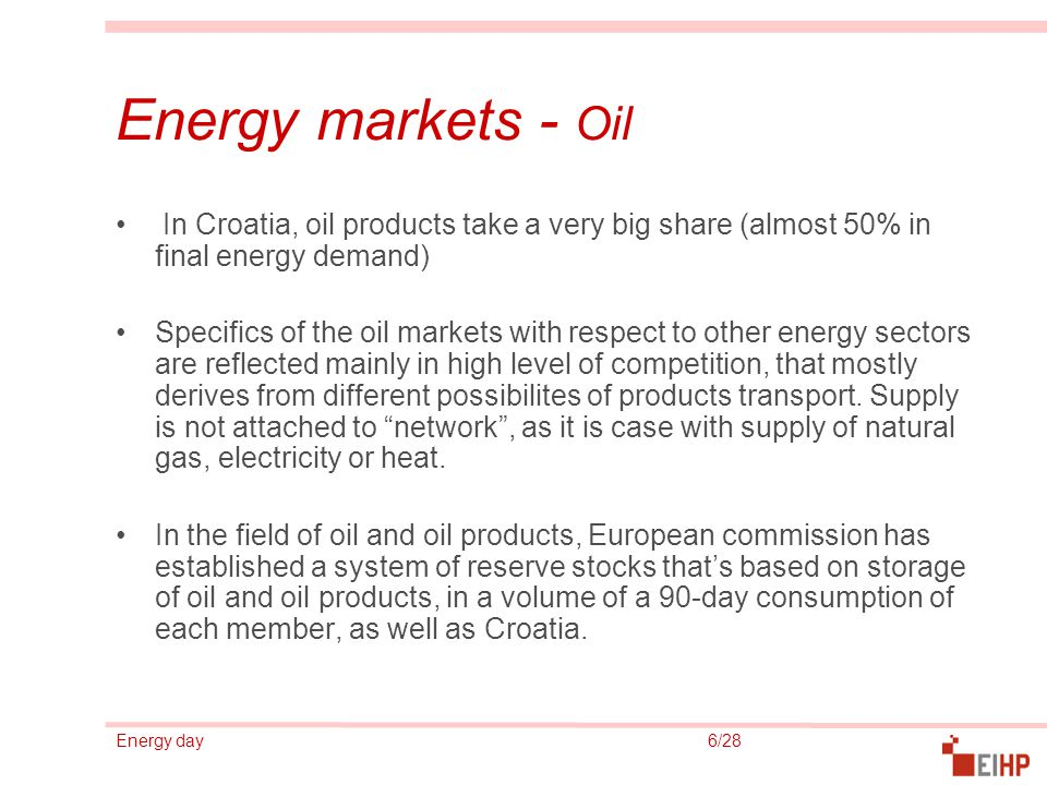 Energy day 17/28 Sources of energy - Coal Coal participates in a total final energy consumption in Croatia with a share of around 7%, where it is entirely imported since the domestic coal production stopped in 1999.