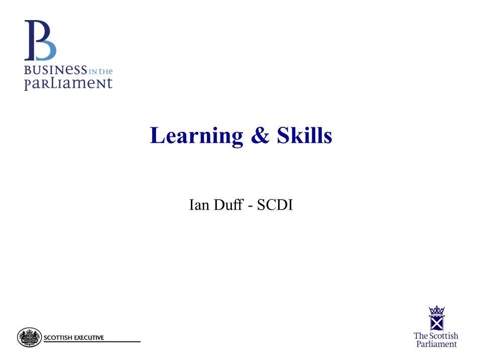 Learning & Skills Ian Duff - SCDI
