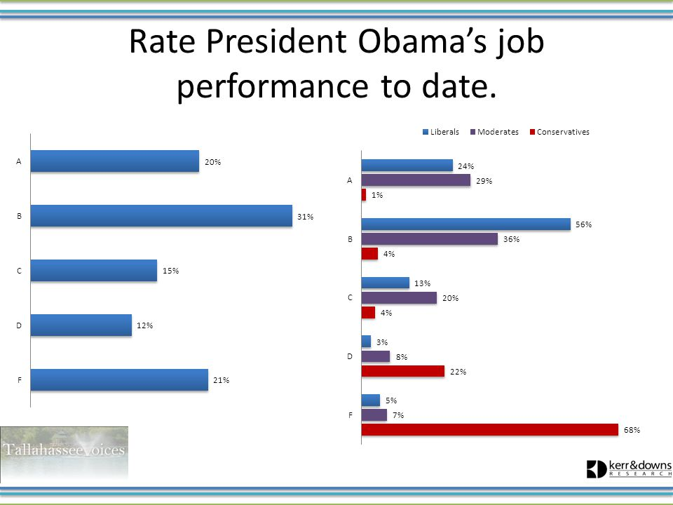 Rate President Obama's job performance to date.