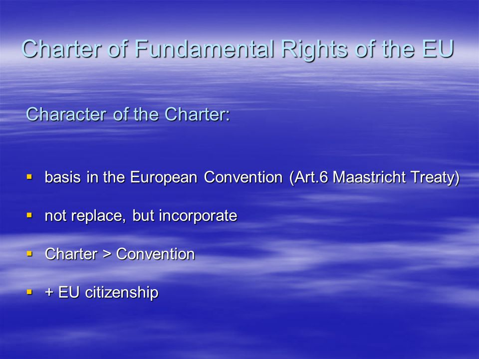 Charter of Fundamental Rights of the EU Preamble 1.