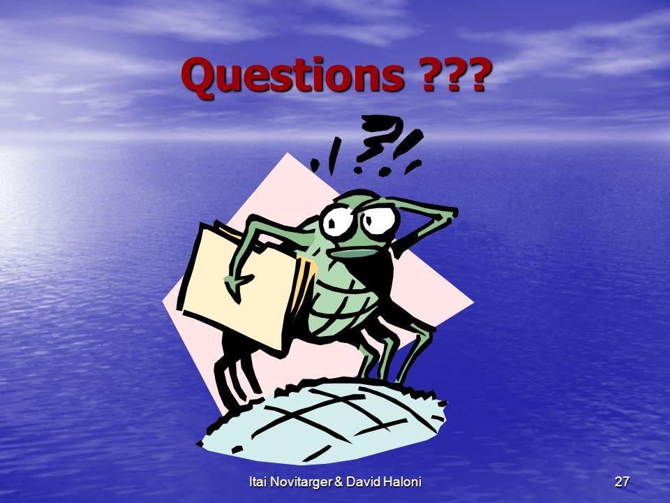 Itai Novitarger & David Haloni27 Questions ???