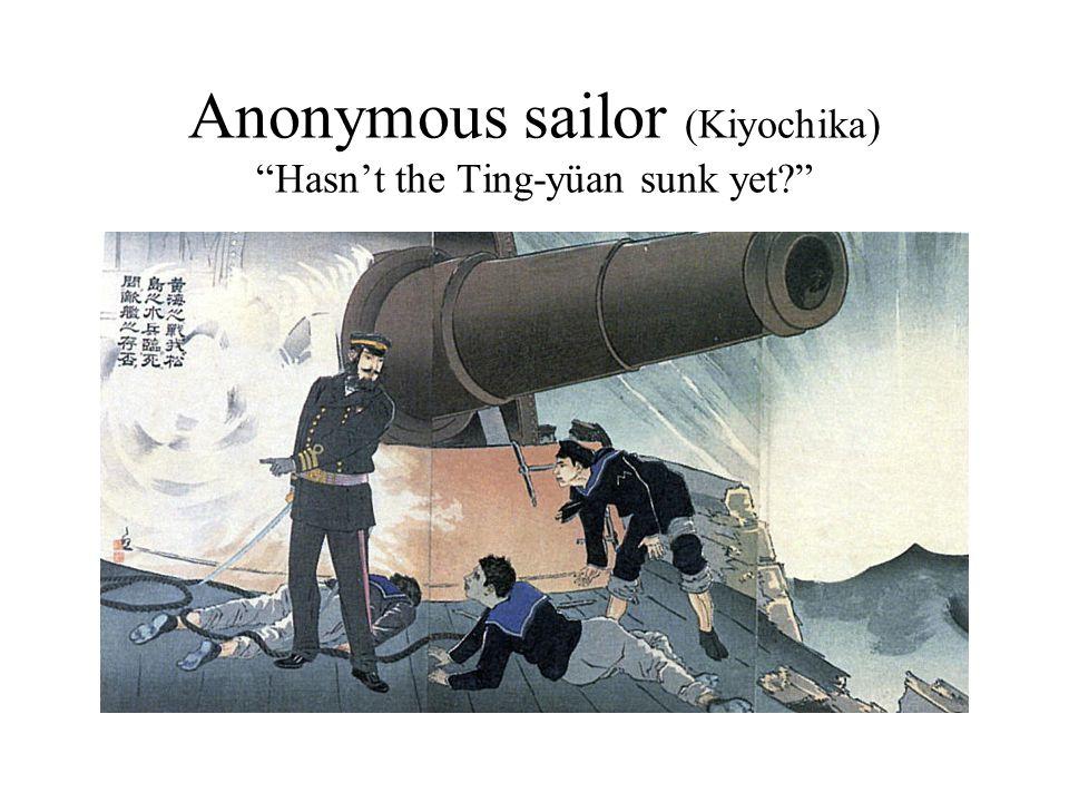 Anonymous sailor (Kiyochika) Hasn't the Ting-yüan sunk yet