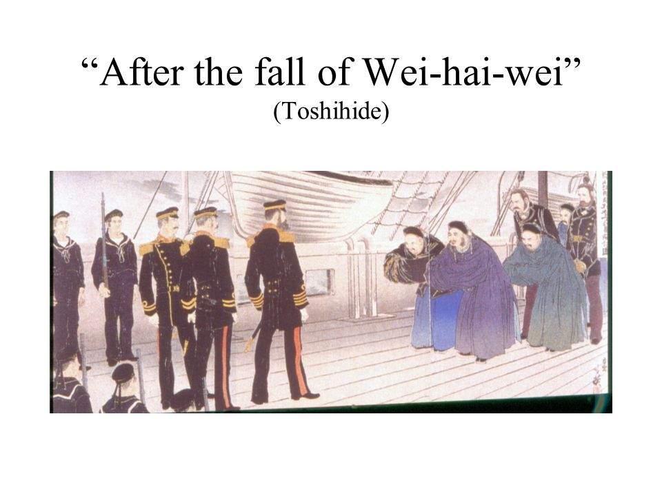 After the fall of Wei-hai-wei (Toshihide)