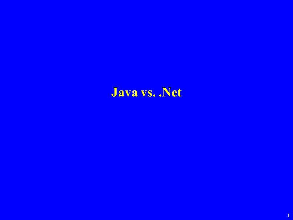 1 Java vs..Net
