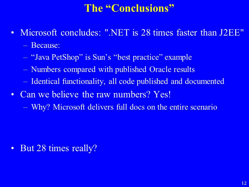 """12 The """"Conclusions"""" Microsoft concludes:"""