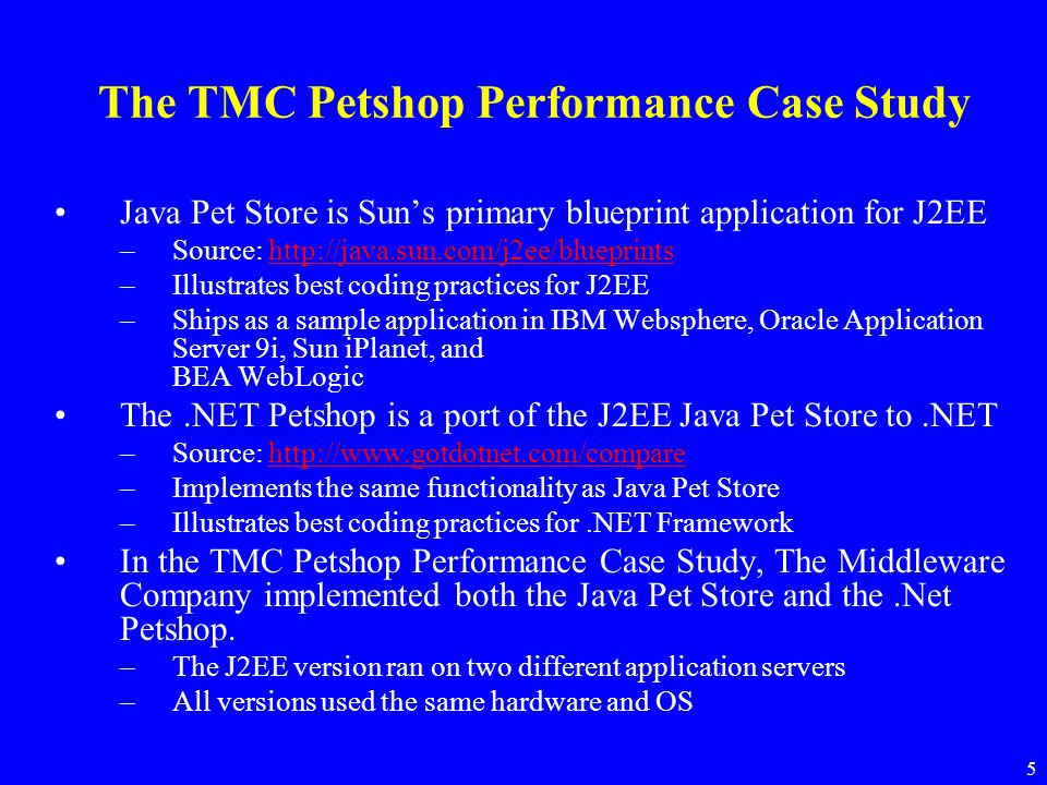 6 Java Pet Store Components –The Storefront presents the main user interface in a Web front-end.