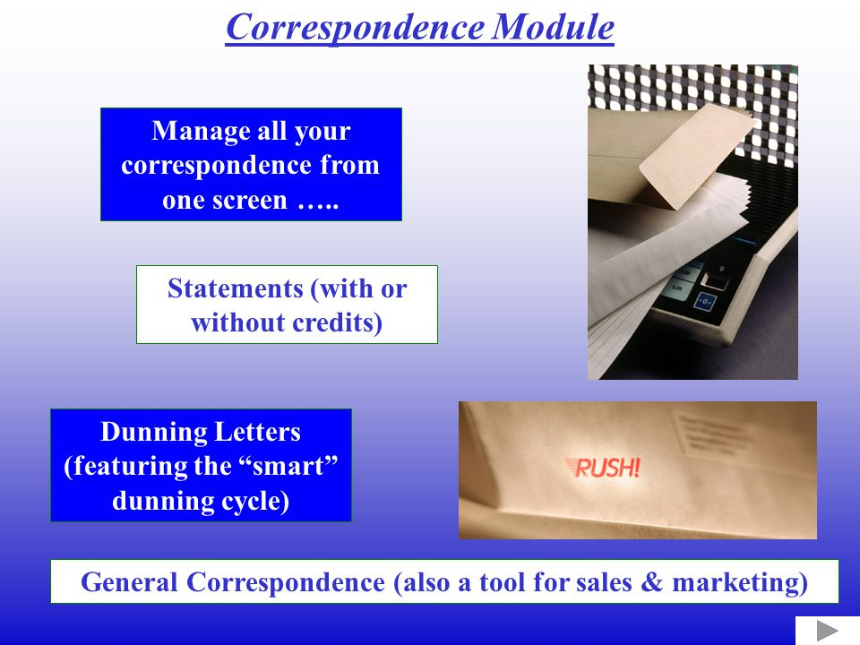Manage all your correspondence from one screen …..