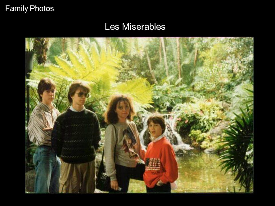 Les Miserables Family Photos