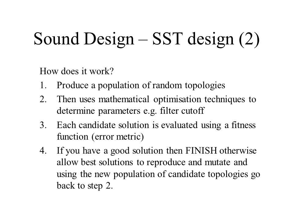 Sound Design – SST design (2) How does it work.