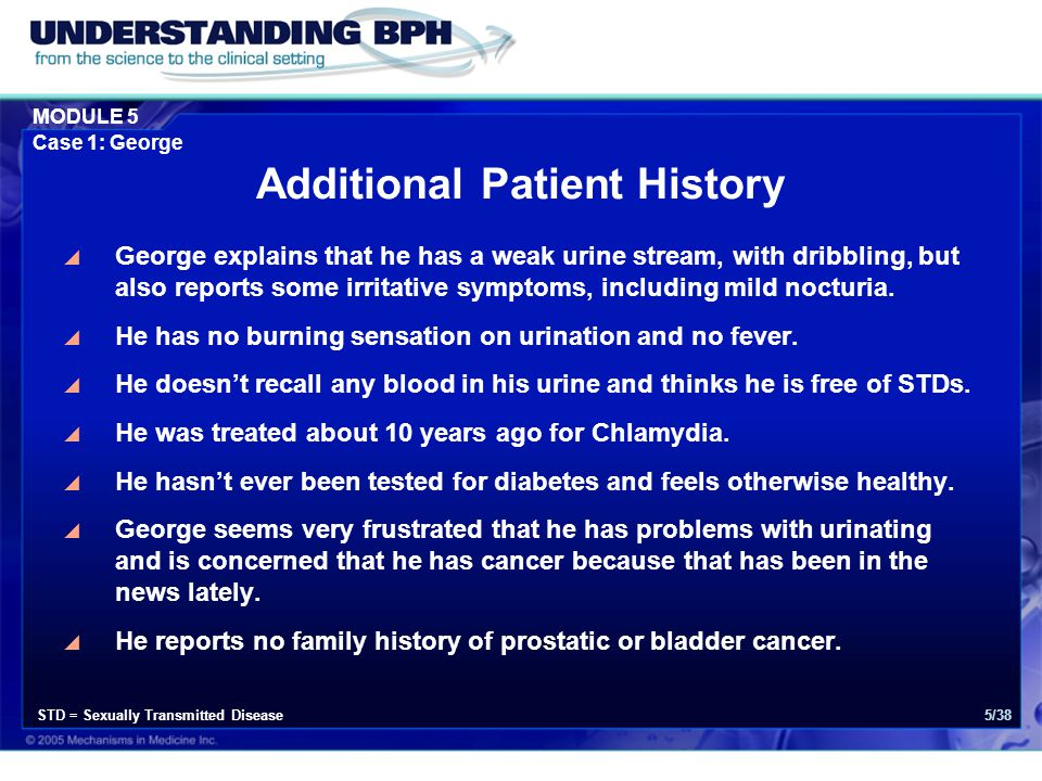 MODULE 5 Case 1: George 36/38 Long Term Management  What would you do if George developed hematuria?