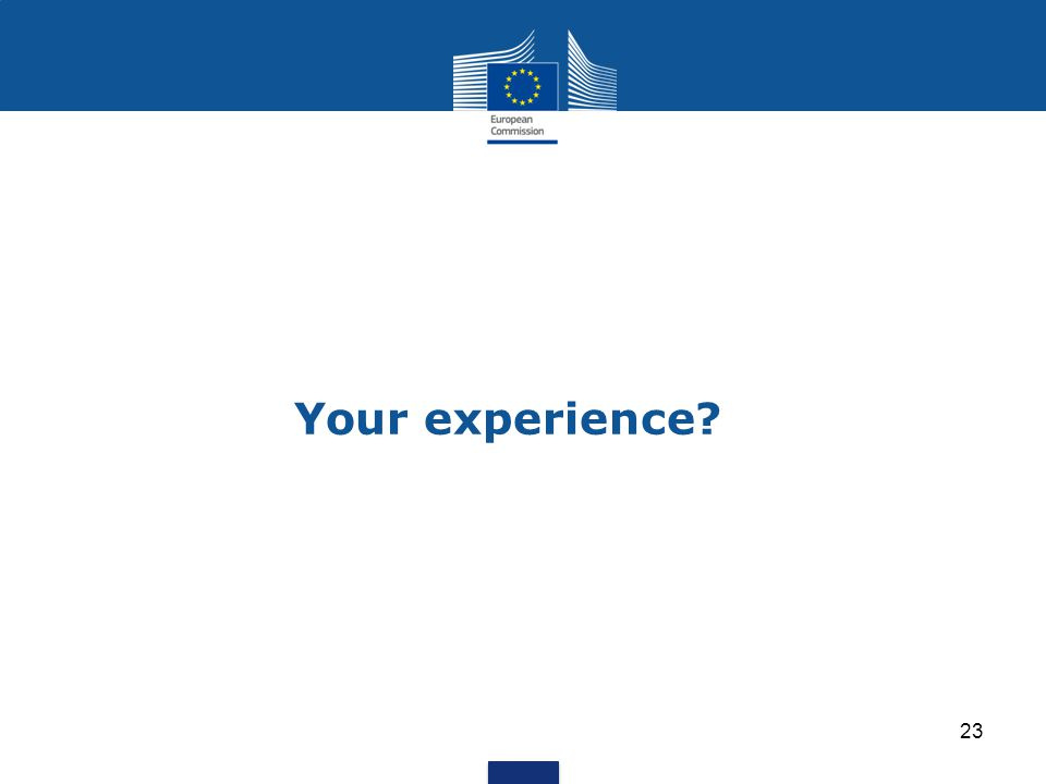 Your experience? 23
