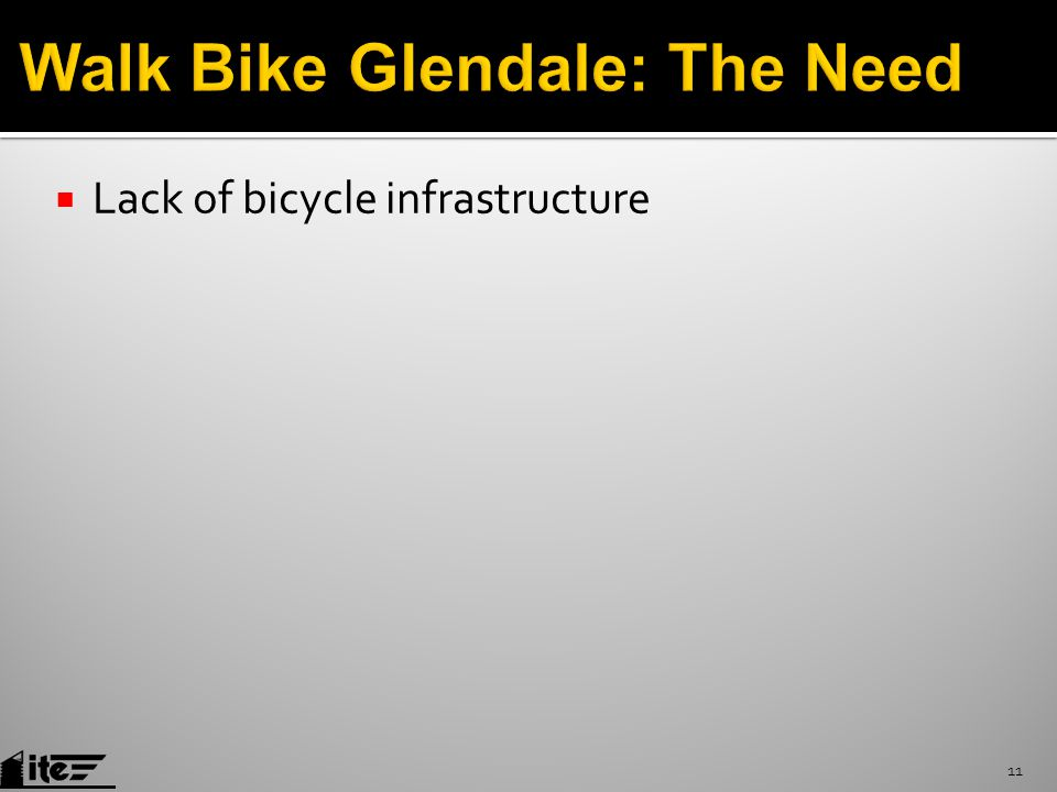  Lack of bicycle infrastructure 11