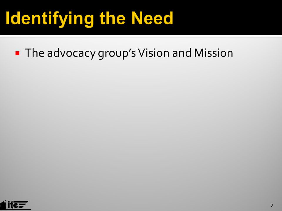  The advocacy group's Vision and Mission 8