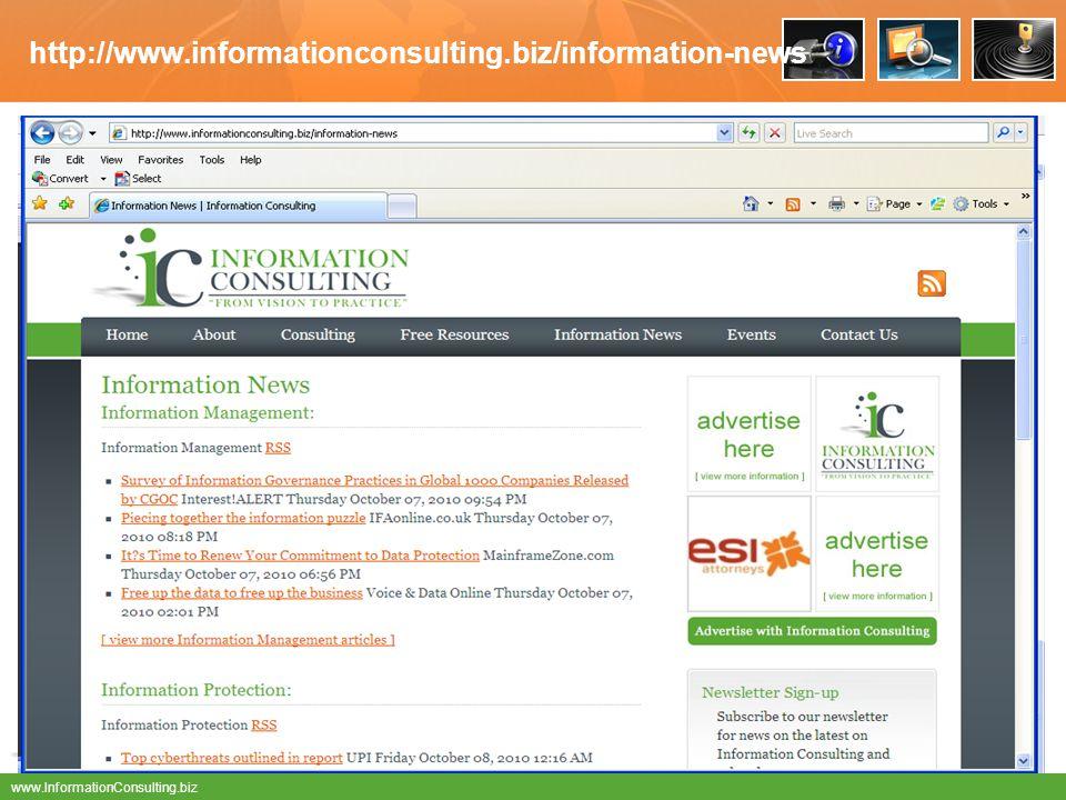 www.InformationConsulting.biz http://www.informationconsulting.biz/information-news