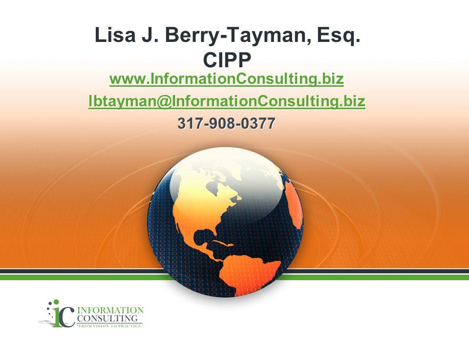 Lisa J. Berry-Tayman, Esq.