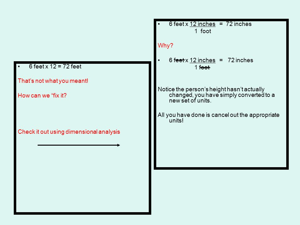 Note that dimensional analysis can be used for conversion of a single unit or a series of units.